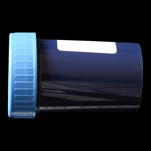60ml screw cap container solid blue polypropylene (PP)
