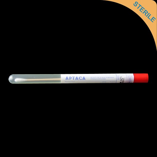 150mm cotton tipped swab with wooden shaft in sterile tube