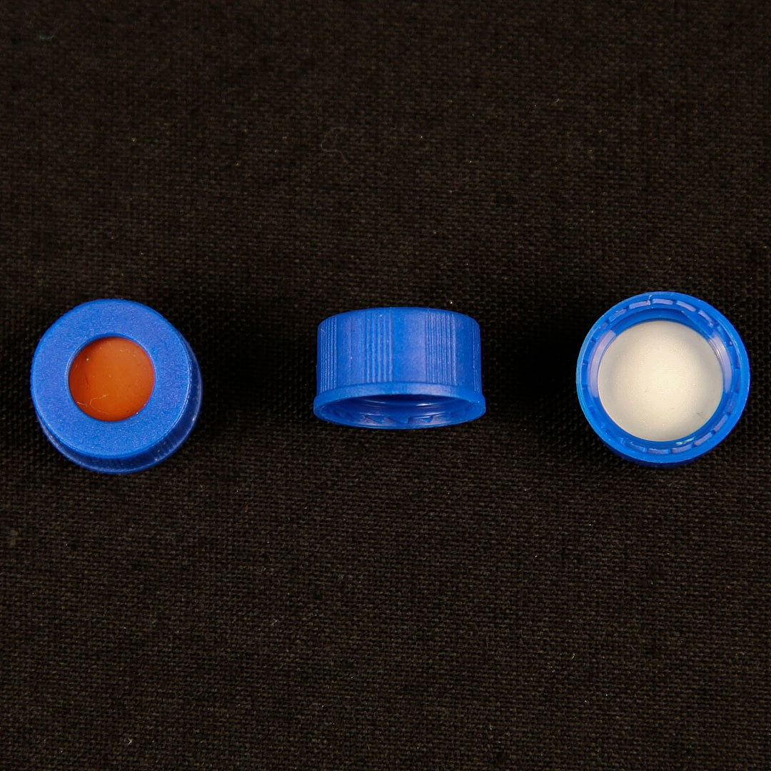9mm screw caps with PTFE/silicone septa