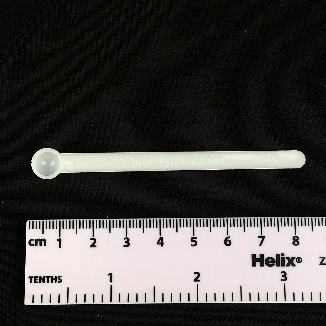 0. 15 ml measuring spoon polystyrene with scale rule