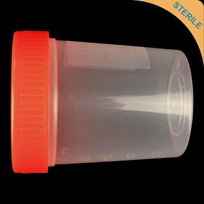 120ml screw cap sterile container polypropylene (PP) sterile