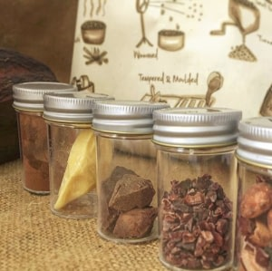 Bean to bar resource kit with metal top containers